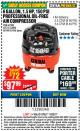 Harbor Freight Coupon 1.5 HP, 6 GALLON, 150 PSI PROFESSIONAL AIR COMPRESSOR Lot No. 62894/67696/62380/62511/68149 Expired: 11/22/17 - $97.99