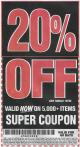 Harbor Freight Coupon 20 percent off coupon expires: 2/4/17