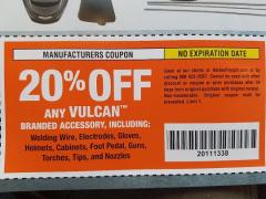 Harbor Freight Coupon 20 percent off coupon expires: 11/1/29