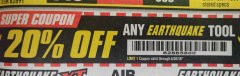 Harbor Freight Coupon 20 percent off coupon expires: 6/30/18