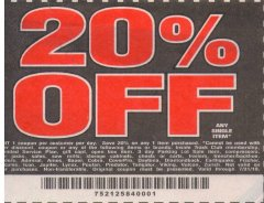 Harbor Freight Coupon 20 percent off coupon expires: 7/31/19