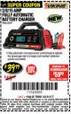 Harbor Freight Coupon 2/8/15 AMP FULLY AUTOMATIC BATTERY CHARGER Lot No. 63299 Expired: 10/31/17 - $39.99