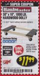 Harbor Freight Coupon HARDWOOD MOVER'S DOLLY Lot No. 61897/39757/38970/60496/62398/92486 Expired: 3/31/18 - $11.99