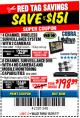 Harbor Freight Coupon 4 CHANNEL WIRELESS SURVEILLANCE SYSTEM WITH 2 CAMERAS Lot No. 63842 Valid Thru: 12/31/17 - $198.39