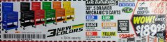 "Harbor Freight Coupon 30"", 5 DRAWER MECHANIC'S CARTS (ALL COLORS) Lot No. 64031/64030/64032/64033/64061/64060/64059/64721/64722/64720 Expired: 12/31/18 - $189.99"