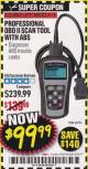 Harbor Freight Coupon OBD II & CAN SCAN TOOL WITH ABS Lot No. 60794 Expired: 6/30/17 - $99.99