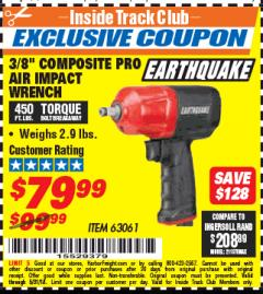 "Harbor Freight ITC Coupon 3/8"" COMPOSITE PRO AIR IMPACT WRENCH Lot No. 63061 Expired: 5/31/18 - $79.99"
