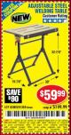 Harbor Freight Coupon ADJUSTABLE STEEL WELDING TABLE Lot No. 63069/61369 Expired: 5/22/16 - $59.99