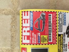Harbor Freight FREE Coupon HEADLAMP WITH SWIVEL LENS Lot No. 45807/61319/63598/62614 Expired: 4/30/19 - FWP