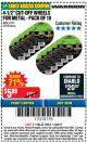 "Harbor Freight Coupon 4-1/2"" CUT-OFF WHEELS FOR METAL - PACK OF 10 Lot No. 61195/45430 Expired: 11/22/17 - $5.89"