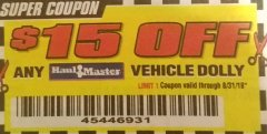 Harbor Freight Coupon 2 PIECE VEHICLE WHEEL DOLLIES 1000 LB. CAPACITY Lot No. 61283/67511 Expired: 8/31/18 - $32.99