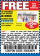 "Harbor Freight FREE Coupon 18"" MAGNETIC TOOL HOLDER Lot No. 65489/60433/61199/62178 Expired: 11/13/16 - FWP"