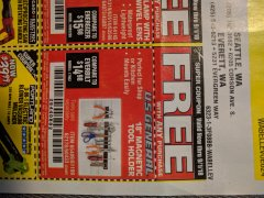 "Harbor Freight FREE Coupon 18"" MAGNETIC TOOL HOLDER Lot No. 65489/60433/61199/62178 Valid Thru: 9/1/18 - FWP"