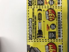Harbor Freight Coupon BRAUN 2-IN-1 EXTENDABLE 250 LUMENS LED RECHARGEABLE WORKLIGHT  Lot No. 63983 Expired: 11/30/18 - $13.99