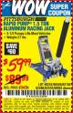 Harbor Freight Coupon RAPID PUMP 1.5 TON ALUMINUM RACING JACK Lot No. 68053/69252/60569/62160/62496/62516 Expired: 8/25/15 - $59.99