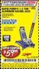 Harbor Freight Coupon RAPID PUMP 1.5 TON ALUMINUM RACING JACK Lot No. 68053/69252/60569/62160/62496/62516 Expired: 6/10/17 - $59.99