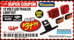 Harbor Freight Coupon 12 VOLT LED TRAILER LIGHT KIT Lot No. 64337/64275 Expired: 8/31/19 - $34.99