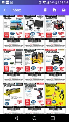 Harbor Freight Coupon 10 FT. x 10 FT. POPUP CANOPY Lot No. 69456/62384/62513 Expired: 3/17/19 - $49.99