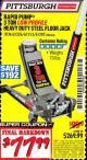 Harbor Freight Coupon RAPID PUMP 3 TON LOW PROFILE HEAVY DUTY STEEL FLOOR JACK Lot No. 68049/62326/62670/61253/61282 Valid Thru: 2/28/17 - $77.99