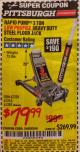 Harbor Freight Coupon RAPID PUMP 3 TON LOW PROFILE HEAVY DUTY STEEL FLOOR JACK Lot No. 68049/62326/62670/61253/61282 Expired: 2/5/17 - $79.99