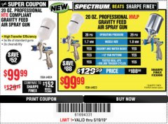 Harbor Freight Coupon SPECTRUM 20 OZ. PROFESSIONAL GRAVITY FEED AIR SPRAY GUNS (HVLP/HTE) Lot No. 64823/64824 Expired: 5/19/19 - $99.99