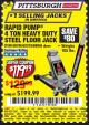 Harbor Freight Coupon RAPID PUMP 4 TON HEAVY DUTY STEEL FLOOR JACK Lot No. 68056/60706/62319 Expired: 6/1/17 - $119.99