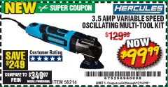 Harbor Freight Coupon 3.5 AMP PROFESSIONAL VARIABLE SPEED MULTI-TOOL KIT Lot No. 56214 Valid Thru: 12/14/19 - $99.99