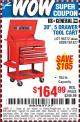 "Harbor Freight Coupon 30"", 5 DRAWER TOOL CART Lot No. 95272/69397/61427 Expired: 9/12/15 - $164.99"