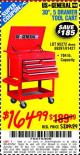 "Harbor Freight Coupon 30"", 5 DRAWER TOOL CART Lot No. 95272/69397/61427 Expired: 10/14/15 - $164.99"