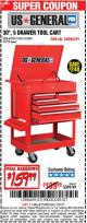 "Harbor Freight Coupon 30"", 5 DRAWER TOOL CART Lot No. 95272/69397/61427 Expired: 1/31/17 - $159.99"