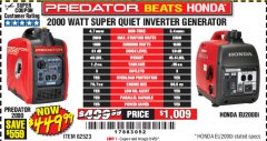 Harbor Freight Coupon 2000 WATT SUPER QUIET INVERTER GENERATOR Lot No. 62523 Valid Thru: 2/4/20 - $449.99