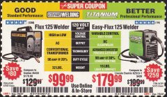 Harbor Freight Coupon CHICAGO ELECTRIC FLUX 125 WELDER Lot No. 63583, 63582 Expired: 7/5/20 - $99.99