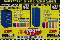 Harbor Freight Coupon US GENERAL SERIES 2 END LOCKER Lot No. 64454, 64452, 64157, 64968, 64969, 64970 Expired: 6/30/20 - $199.99