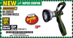 Harbor Freight Coupon GREENWOOD NO-SQUEEZE WATERING NOZZLE Lot No. 56711 Valid Thru: 6/30/20 - $7.99