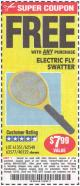 Harbor Freight FREE Coupon ELECTRIC FLY SWATTER Lot No. 61351/40122/62540/62577 Expired: 7/5/15 - FWP