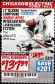 "Harbor Freight Coupon 12"" SLIDING COMPOUND DOUBLE-BEVEL MITER SAW WITH LASER GUIDE Lot No. 69684/61776/61969/61970 Expired: 2/28/17 - $137.39"