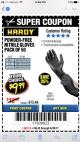 Harbor Freight Coupon POWDER-FREE HEAVY DUTY NITRILE GLOVES PACK OF 50 Lot No. 68504/61775/68505/61773/68506/61774 Expired: 6/30/17 - $9.99