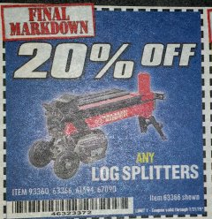 Harbor Freight Coupon 20 percent off coupon expires: 2/28/19