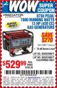 Harbor Freight Coupon 8750 PEAK / 7000 RUNNING WATTS 13 HP (420 CC) GAS GENERATOR Lot No. 68530/63086/63085/69671/68525/63087/63088 Expired: 7/25/15 - $529.99
