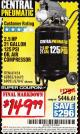Harbor Freight Coupon 2.5 HP, 21 GALLON 125 PSI VERTICAL AIR COMPRESSOR Lot No. 67847/61454/61693/69091/62803/63635 Expired: 2/28/17 - $149.99