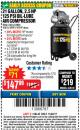 Harbor Freight Coupon 2.5 HP, 21 GALLON 125 PSI VERTICAL AIR COMPRESSOR Lot No. 67847/61454/61693/69091/62803/63635 Expired: 11/22/17 - $147.99