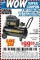 Harbor Freight Coupon 2 HP, 8 GALLON 125 PSI PORTABLE AIR COMPRESSOR Lot No. 67501/68740/69667 Expired: 7/20/15 - $99.99
