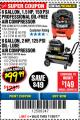 Harbor Freight Coupon 2 HP, 8 GALLON 125 PSI PORTABLE AIR COMPRESSOR Lot No. 67501/68740/69667 Expired: 11/30/17 - $99.99