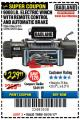 Harbor Freight Coupon 9000 LB. ELECTRIC WINCH WITH REMOTE CONTROL AND AUTOMATIC BRAKE Lot No. 61346/61325/62596/62278/68143 Valid Thru: 10/31/17 - $229.99