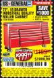 Harbor Freight Coupon 72 IN. 18 DRAWER GLOSSY RED INDUSTRIAL ROLLER CABINET Lot No. 61656 Valid Thru: 7/3/17 - $999.99
