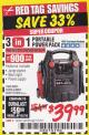 Harbor Freight Coupon 3-IN-1 PORTABLE POWER PACK WITH JUMP STARTER Lot No. 38391/60657/62306/62376 EXPIRES: 1/31/18 - $39.99
