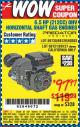 Harbor Freight Coupon 6.5 HP (212 CC) OHV HORIZONTAL SHAFT GAS ENGINES Lot No. 60363/68120/69730/68121/69727 Expired: 5/1/16 - $97.97