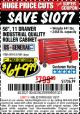 "Harbor Freight Coupon 56"", 11 DRAWER INDUSTRIAL QUALITY ROLLER CABINET Lot No. 67681/69395/62499 Expired: 1/2/17 - $649.99"