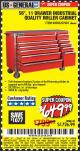 "Harbor Freight Coupon 56"", 11 DRAWER INDUSTRIAL QUALITY ROLLER CABINET Lot No. 67681/69395/62499 Valid Thru: 6/1/17 - $649.99"