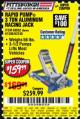 Harbor Freight Coupon RAPID PUMP 3 TON ALUMINUM RACING JACK Lot No. 68052/61386/62248/62530 Valid Thru: 8/7/17 - $159.99
